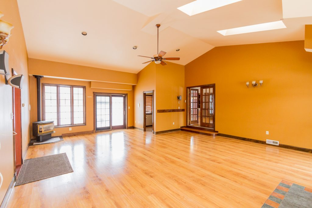 18 Miller Road in Ballston Lake NY 12019 is a home for sale with an open living room and vaulted ceilings