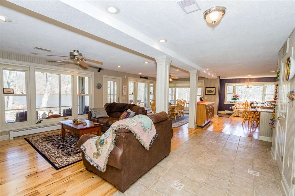 133 Brown Point Lane Saratoga Springs NY - Open first floor that's ideal for entertaining with gorgeous wood floors and tile