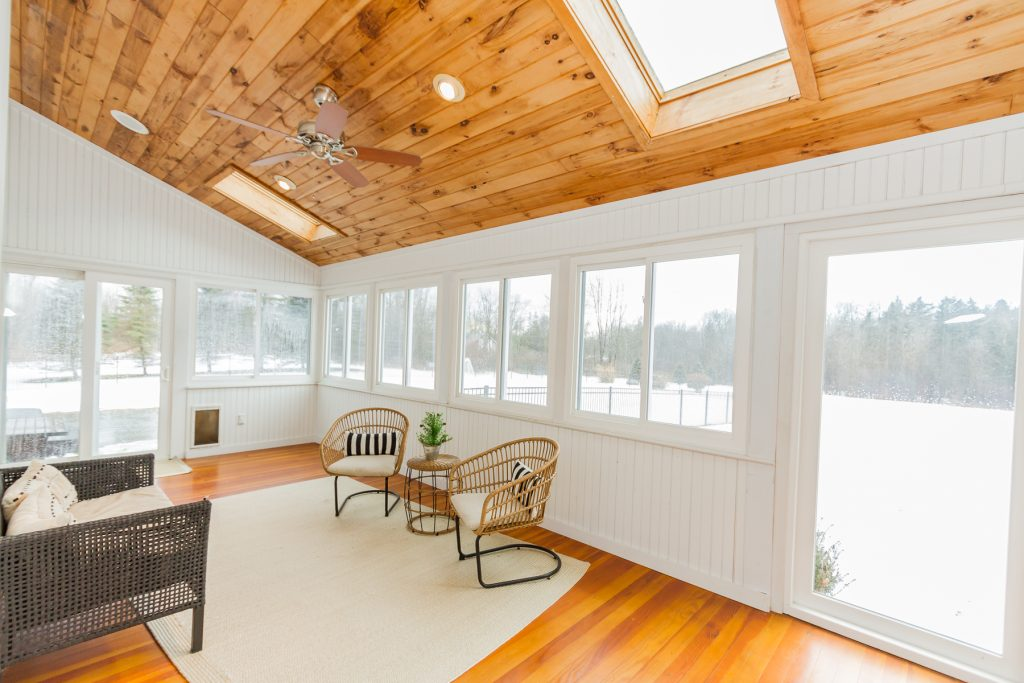 213 Kaydeross Avenue East is a home for sale in Saratoga Springs, NY with a huge 3 season porch fenced backyard.