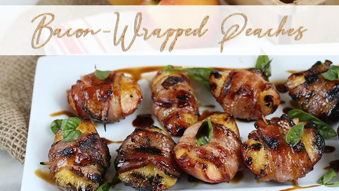 Bacon wrapped peaches by foodlion