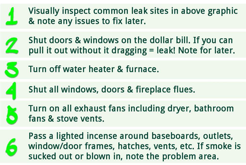 DIY home energy assessment