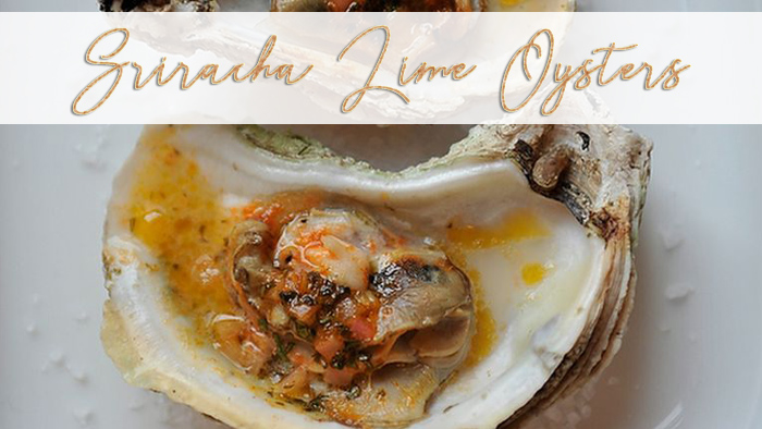sriacha lime grilled oysters