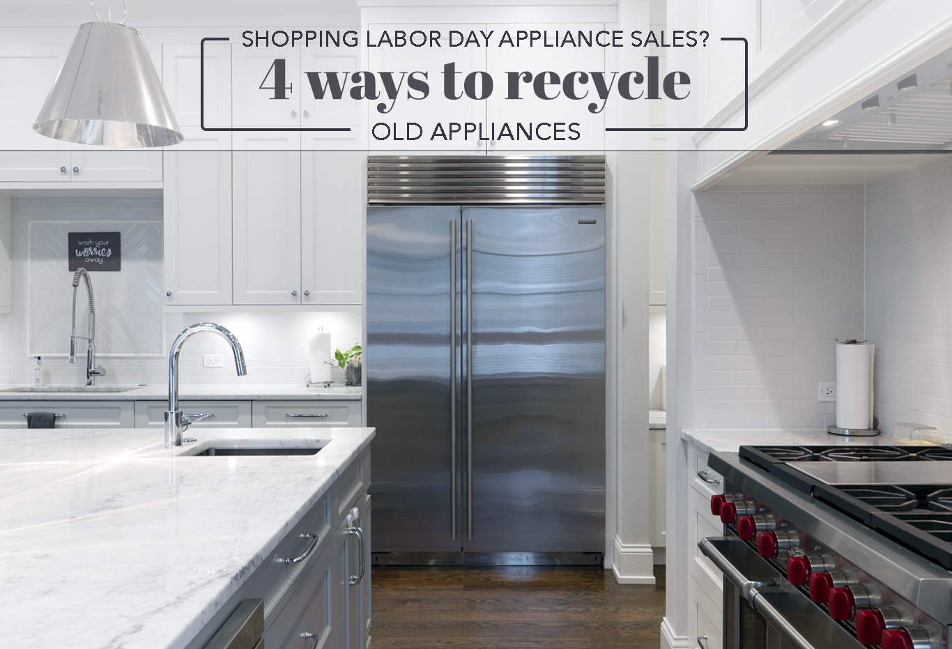 4 ways to recycle large kitchen appliances
