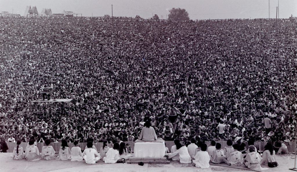 Opening Ceremony at Woodstock with Swami Satchidananda, August 15, 1969