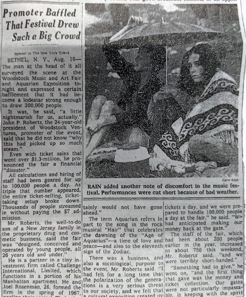 woodstock promoter baffled at turnout the new york times august 17 1969