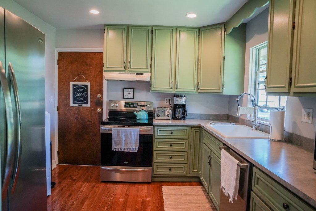 1 Salem Drive is a home for sale in Saratoga Springs, NY with a updated kitchen with new countertops, farm sink & amp; faucet, soft close drawers and all new stainless appliances.