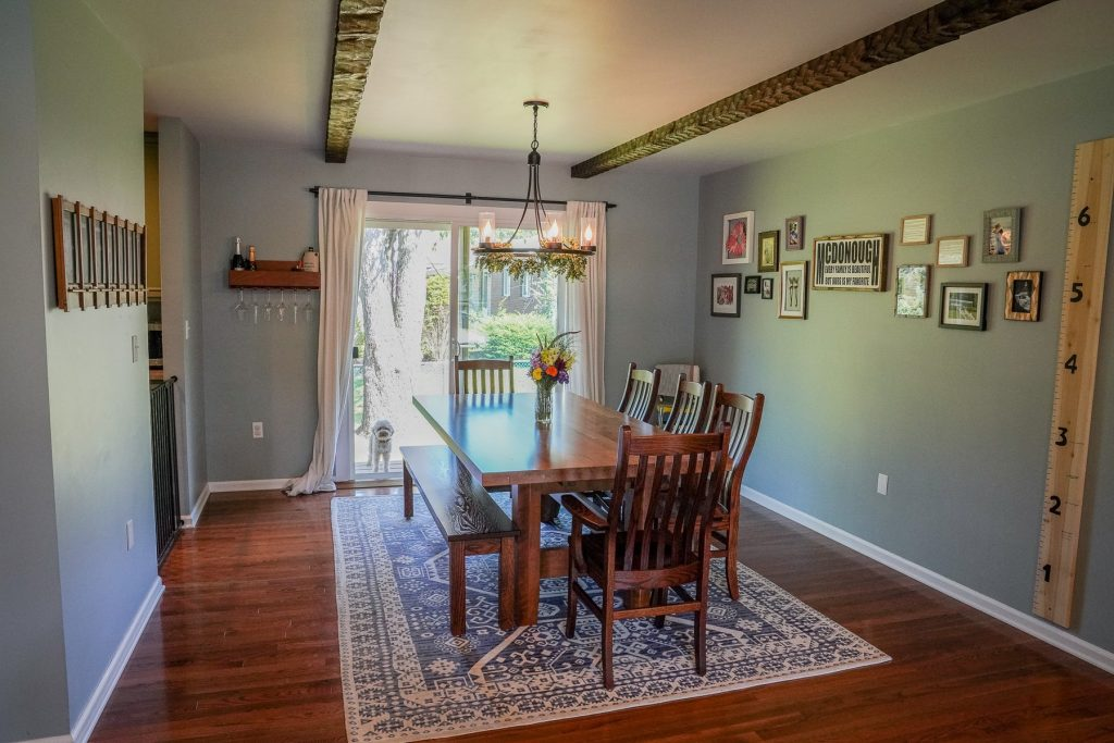 1 Salem Drive is a home for sale in Saratoga Springs, NY with a bright spacious dining room with new oak hardwood floors.