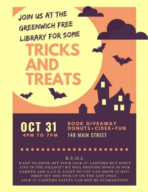 greenwich free library halloween party 2019