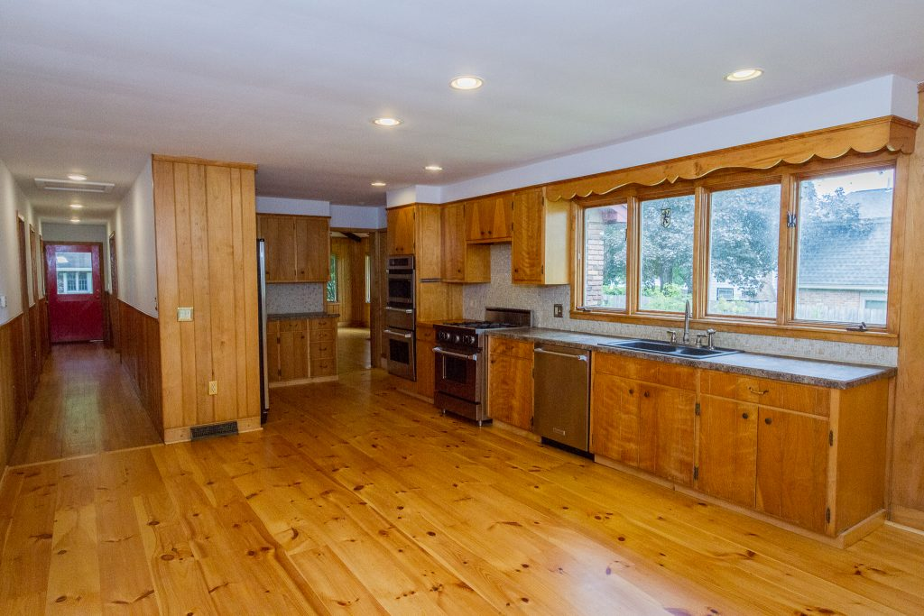 28 Stockholm Road is a home for sale in Saratoga Springs, NY with a open concept kitchen has flexible floor space with room for a dining area and a family room.