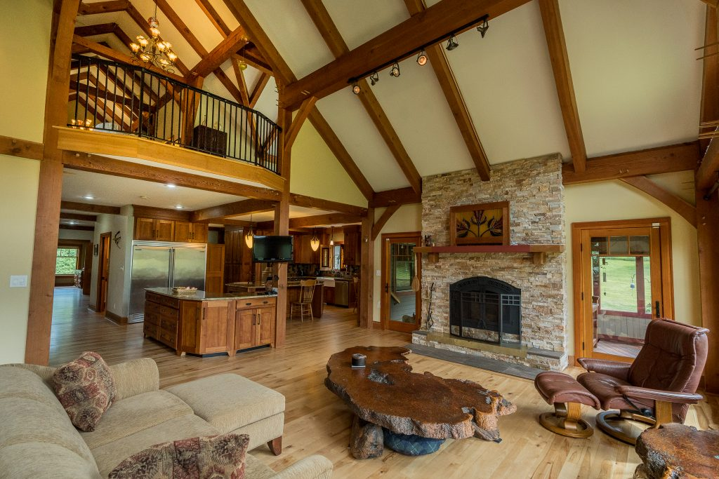 1324 Vly Summit Road is a home for sale in Greenwhich, NY with complete first floor living featuring a family room with vaulted ceiling and a wood fireplace