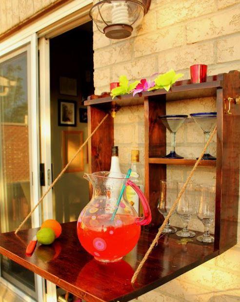 outdoor murphy style mini bar
