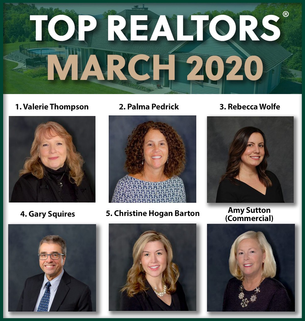March 2020 top agents Roohan Realty Saratoga Springs NY
