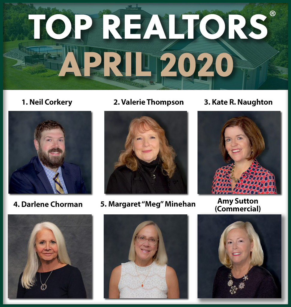 April 2020 top agents Roohan Realty Saratoga Springs NY