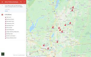 u-pick berry picking map farms saratoga county ny summer