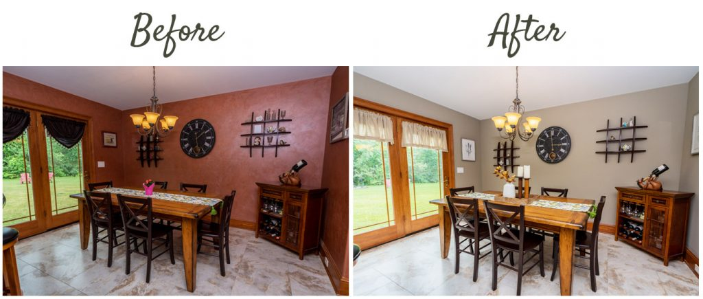 before after 1128 middleline road ballston spa ny breakfast room