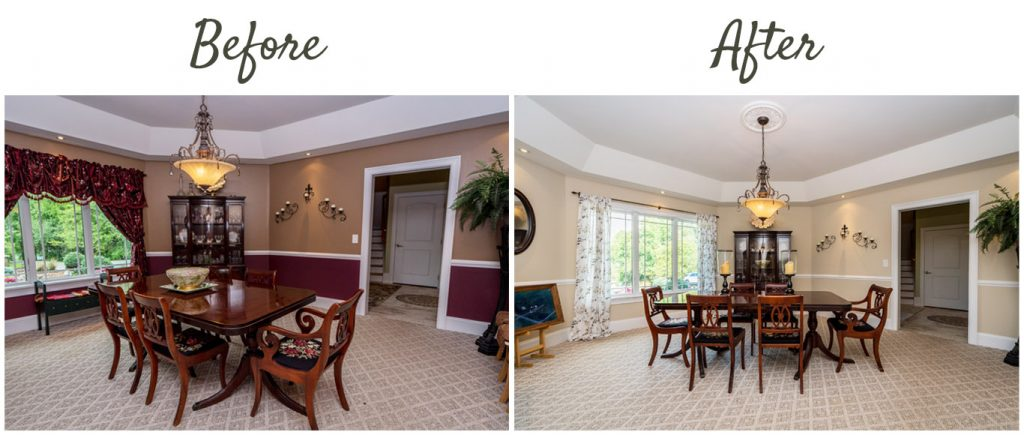 before after 1128 middleline road ballston spa ny dining room