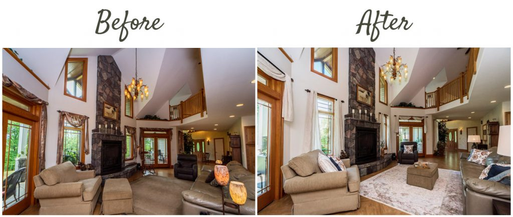 before after 1128 middleline road ballston spa ny living room