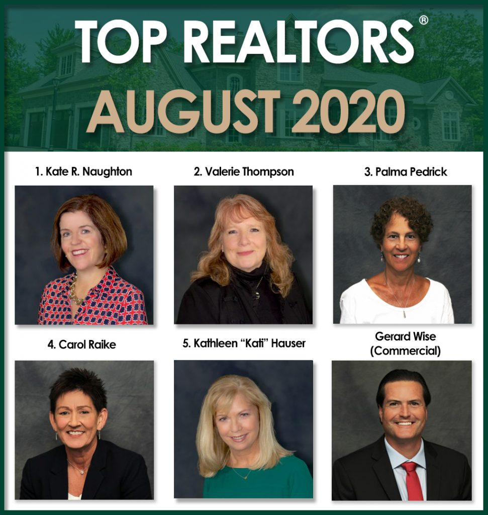 top realtors for august 2020