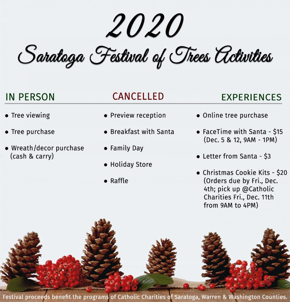 2020 Saratoga Festival of Trees activities