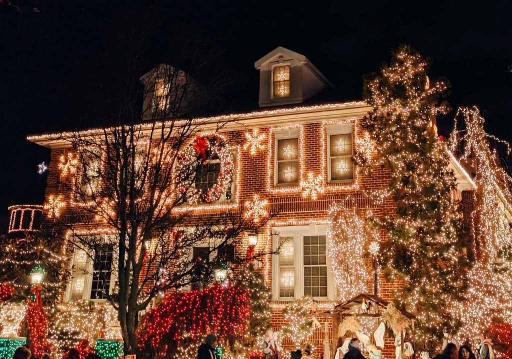 2020 saratoga christmas lights map