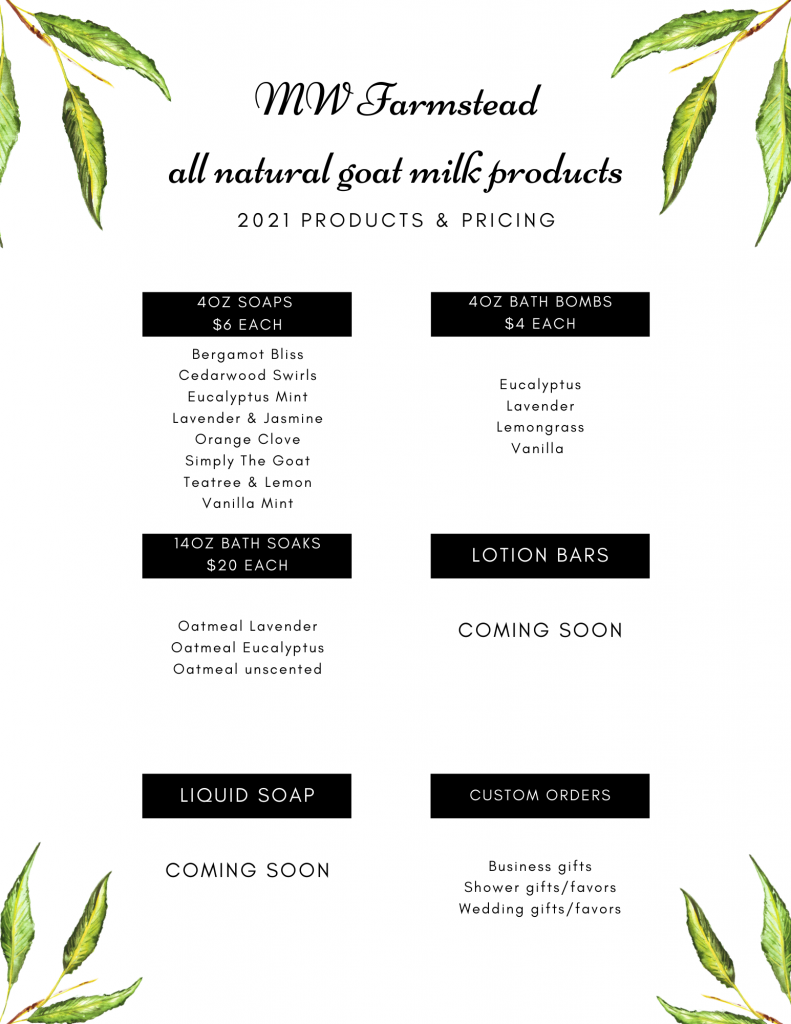 mw farmstead goat products salem ny 2021 pricing