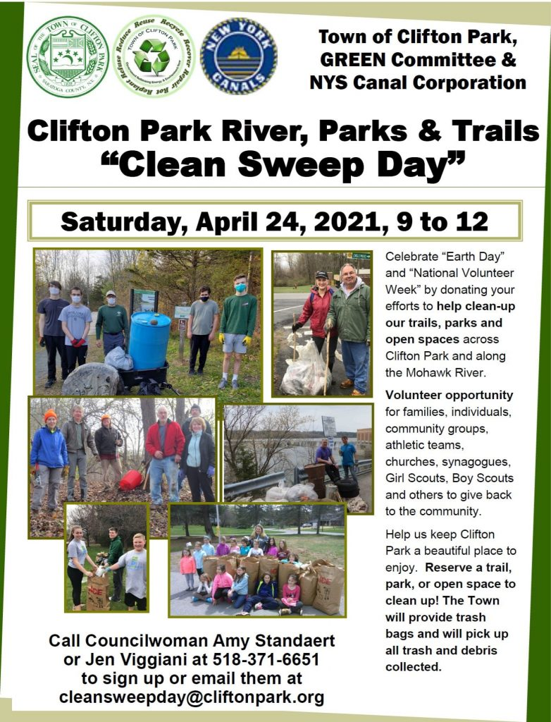clifton park ny clean sweep earth day 2021