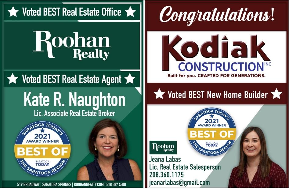 best real estate saratoga 2021 roohan realty kodiak construction kate naughton