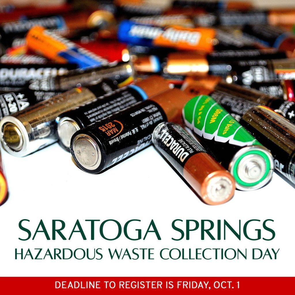 saratoga springs hazardous waste collection day 2021